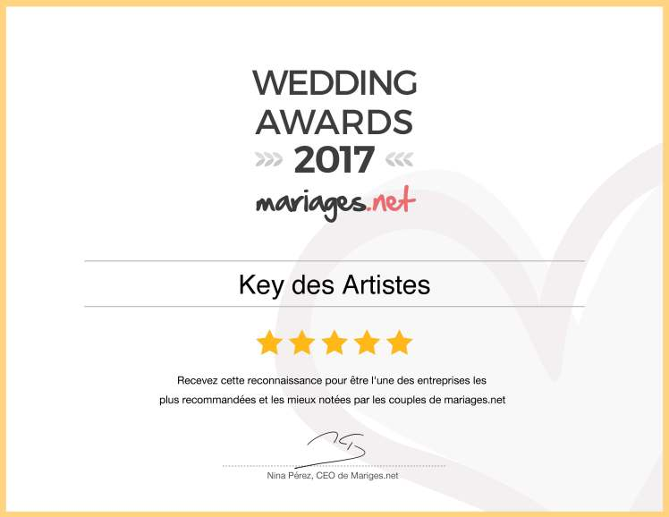@keydesartistes @mariages.net #wedding #awards #2017